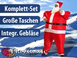 Selbstaufblasendes Weihnachtsmann-Kostüm